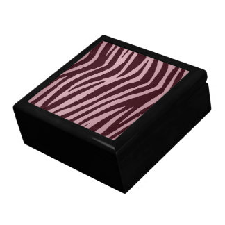 Wild Zebra Print Pink Jewelry Boxes