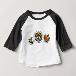Wildcat Basketball Ball Mascot Baby T-Shirt