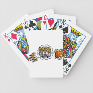 Wildcat Basketball Ball Mascot Bicycle Playing Cards