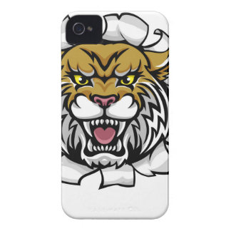 Wildcat Basketball Ball Mascot iPhone 4 Case-Mate Cases
