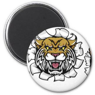 Wildcat Basketball Ball Mascot Magnet