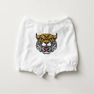 Wildcat Bobcat Mascot Diaper Cover