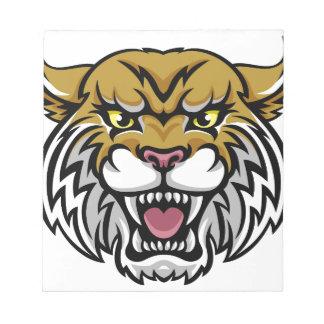 Wildcat Bobcat Mascot Notepads