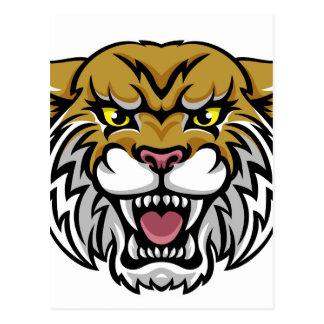 Wildcat Bobcat Mascot Postcard
