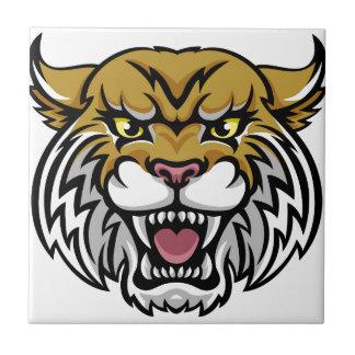Wildcat Bobcat Mascot Tile