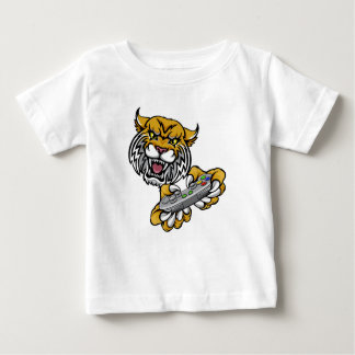 Wildcat Bobcat Player Gamer Mascot Baby T-Shirt