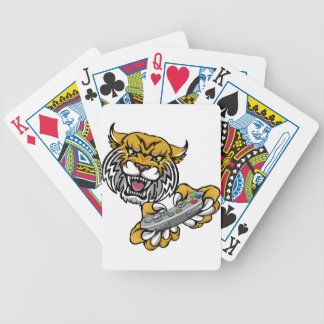 Wildcat Bobcat Player Gamer Mascot Bicycle Playing Cards