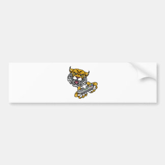 Wildcat Bobcat Player Gamer Mascot Bumper Sticker