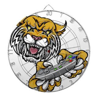 Wildcat Bobcat Player Gamer Mascot Dartboard