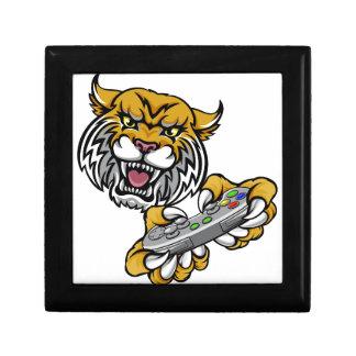 Wildcat Bobcat Player Gamer Mascot Gift Box