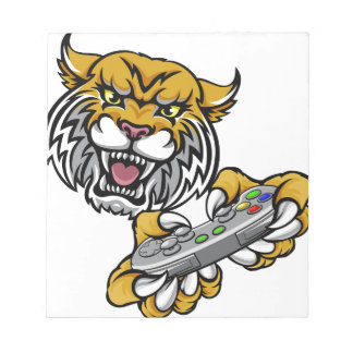 Wildcat Bobcat Player Gamer Mascot Notepad