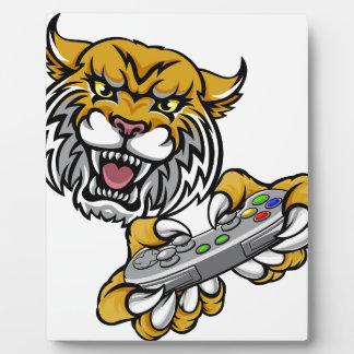 Wildcat Bobcat Player Gamer Mascot Plaque