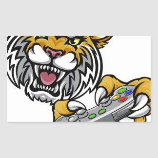 Wildcat Bobcat Player Gamer Mascot Sticker