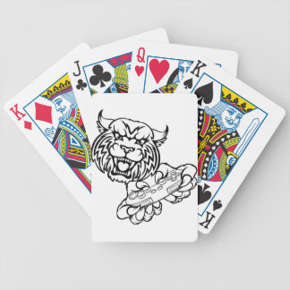 Wildcat Gamer Mascot Bicycle Playing Cards
