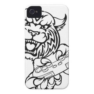 Wildcat Gamer Mascot iPhone 4 Case-Mate Cases