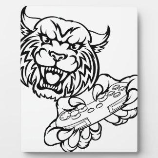 Wildcat Gamer Mascot Plaque