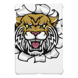 Wildcat Holding Baseball Ball Breaking Background iPad Mini Cover