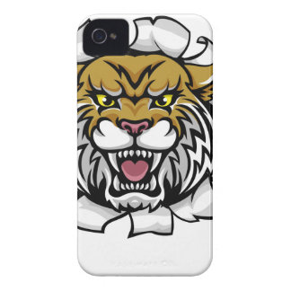 Wildcat Holding Baseball Ball Breaking Background iPhone 4 Cover