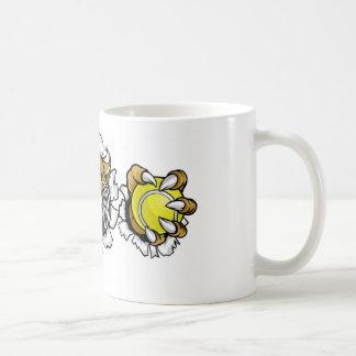 Wildcat Holding Tennis Ball Breaking Background Coffee Mug