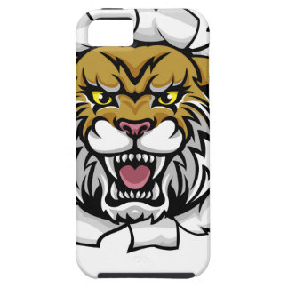 Wildcat Holding Tennis Ball Breaking Background iPhone 5 Cover