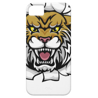 Wildcat Holding Tennis Ball Breaking Background iPhone 5 Covers