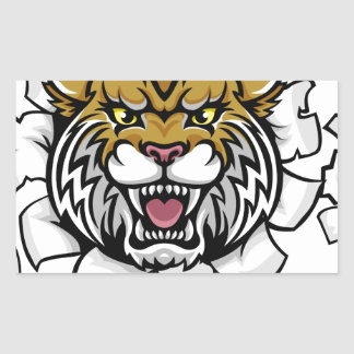 Wildcat Holding Tennis Ball Breaking Background Sticker