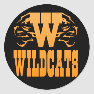WILDCATS CLASSIC ROUND STICKER