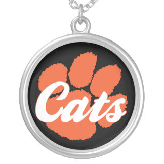 Wildcats LGHS Paw Silver Plated Necklace