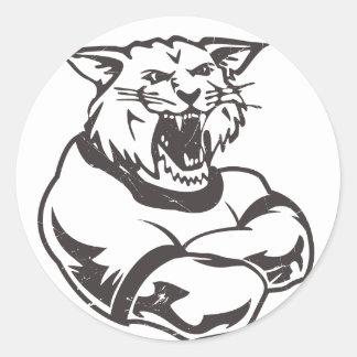 Wildcats Mascot Classic Round Sticker