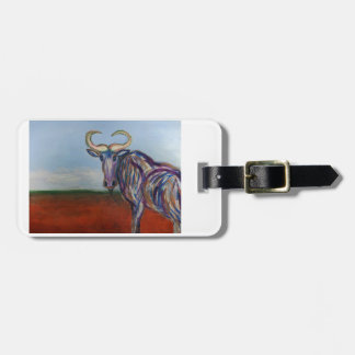 Wildebeest Luggage Tag