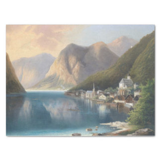 Wilderness Alps Mountain Town Lake Tissue Paper