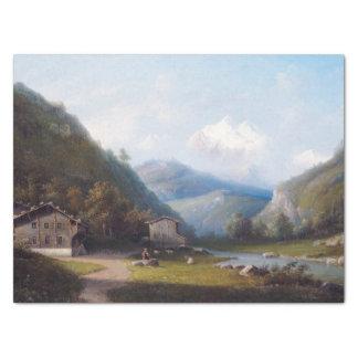 Wilderness Alps Mountain Vine Houses Tissue Paper