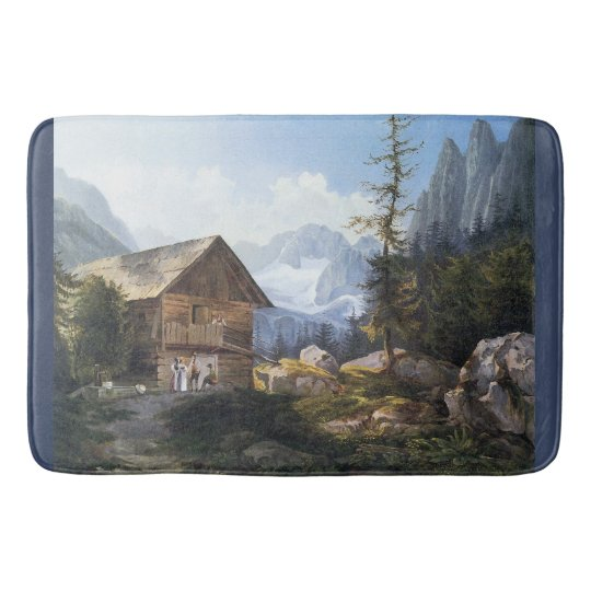 Wilderness Alps Mountains Chateau Bath Mat