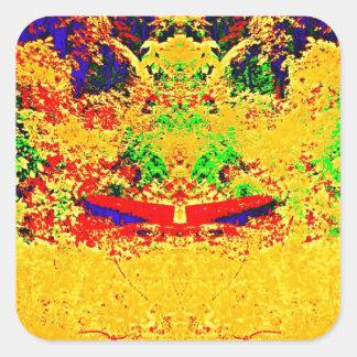 Wilderness Color Mix Square Sticker