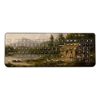 Wilderness Family Cabin Lake Wireless Keyboard