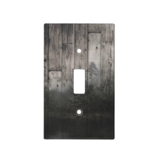 Wilderness Lake Pine Trees Forest & Wood Wooden Light Switch Cover