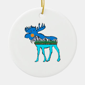 Wilderness Moose Ceramic Ornament