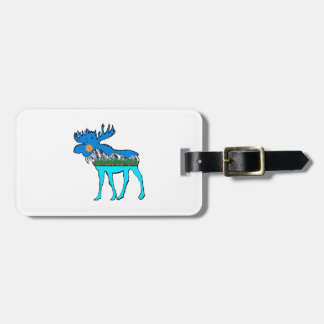 Wilderness Moose Luggage Tag