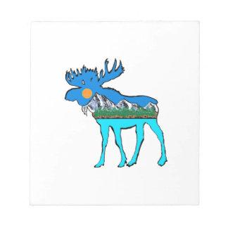 Wilderness Moose Notepad
