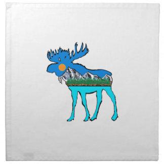 Wilderness Moose Printed Napkin