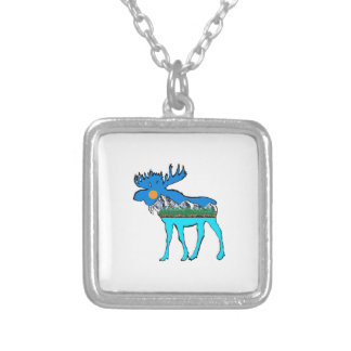Wilderness Moose Silver Plated Necklace