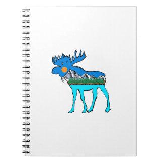 Wilderness Moose Spiral Note Books