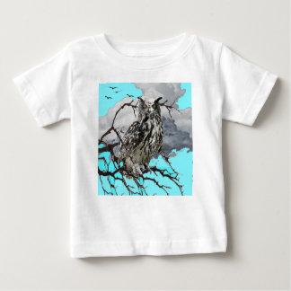 WILDERNESS OWL IN TREE &  BLUE  SKIES BABY T-Shirt