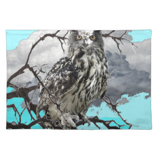 WILDERNESS OWL IN TREE &  BLUE  SKIES PLACEMAT
