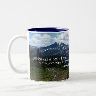 Wilderness Quote (Tatoosh Range) Two-Tone Coffee Mug