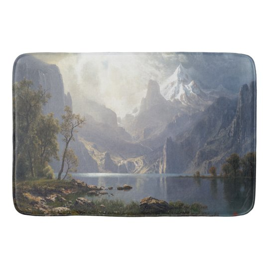 Wilderness Storm Clouds Mountains Lake Bath Mat
