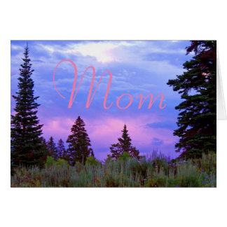 Wilderness sunset birthday card