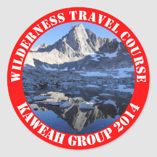 Wilderness Travel Course Kaweah Group 2014 Sticke Classic Round Sticker
