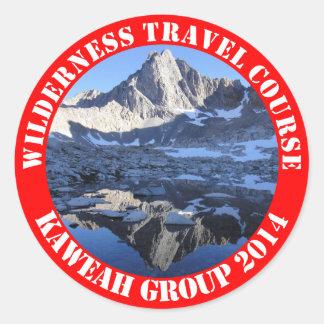 Wilderness Travel Course Kaweah Group 2014 Sticke Round Sticker