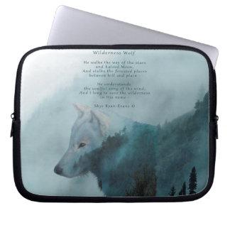 Wilderness Wolf & Eco Poem Laptop Computer Sleeve